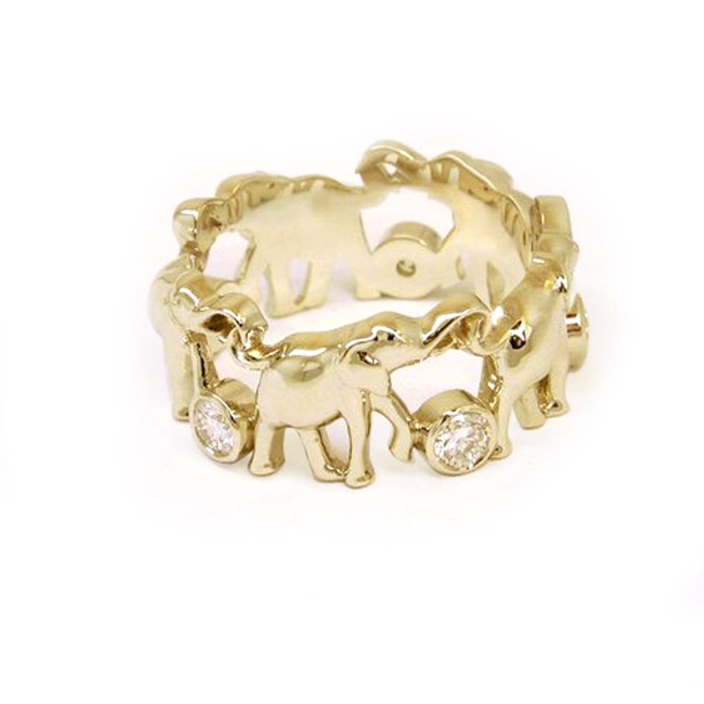 слоников. Кольцо. Желтое золото. Фианиты. copy.jpg