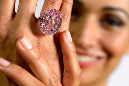 Розовая звезда бриллиант